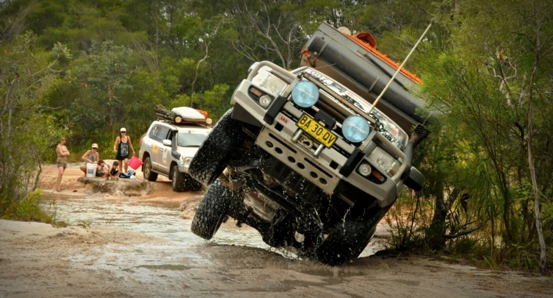 Honour For Close Call Crossing A Creek On Cape York By Caroline Hall