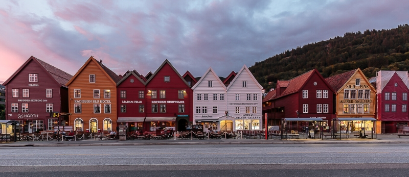 Merit For Bryggen At Sunset By Lekha Suraweera