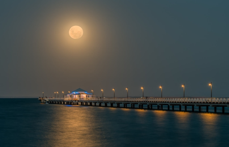 Merit For Shorncliffe Moonrise By Ian Sweetman