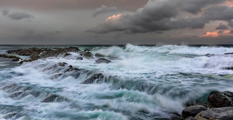 Merit For Waves On The Rocks By Ian Sweetman