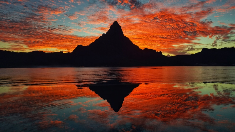 Honour For Bora Bora Sunset By Denise McMillan