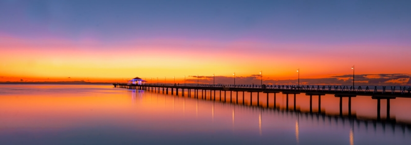 Honour For Sunrise At Shorncliffe Pier By Swarna Wijesekera