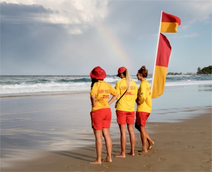 Merit For 3 Surf Life Savers By Suzanne Edgeworth