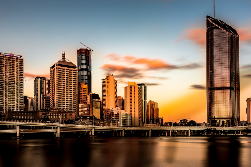 Merit For Brisbane City In The Afternoon Sun By Swarna Wijesekera