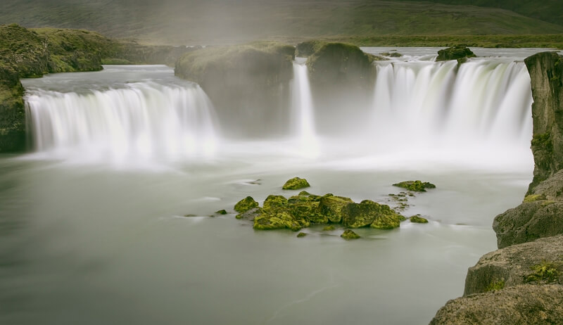 Honour For Godafoss Waterfall Iceland By Sam Fernando