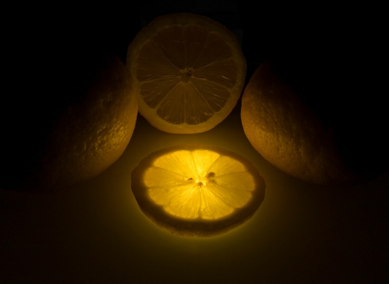 Merit For Glowing Lemon By Michael Mitchell
