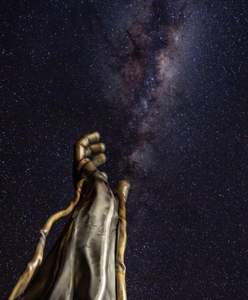 Honour For Milky Way Hand By Chris Ross