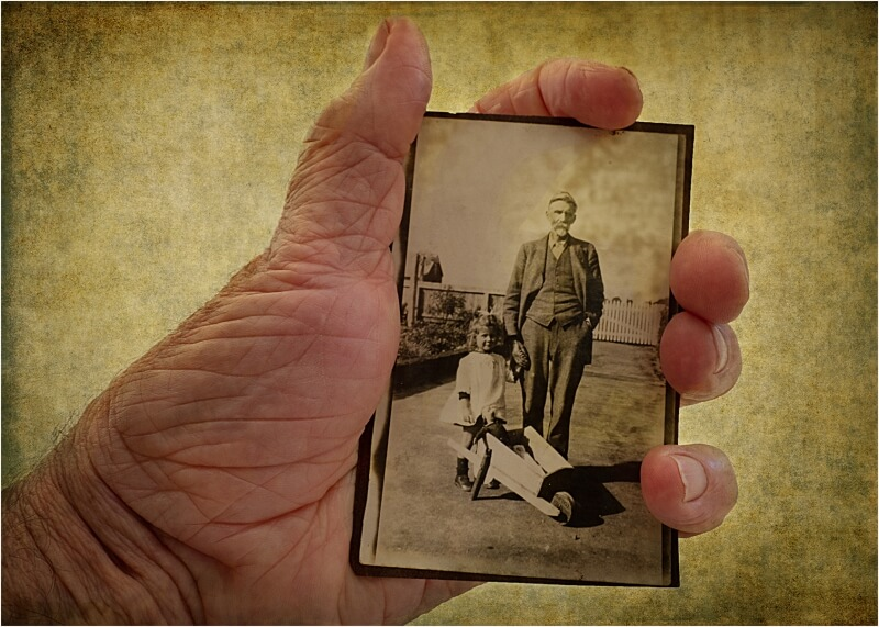 Honour For Great Grandpa, Mother And Me By Clive Hammond